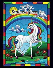 Stained Glass 2 - Adult Coloring Book