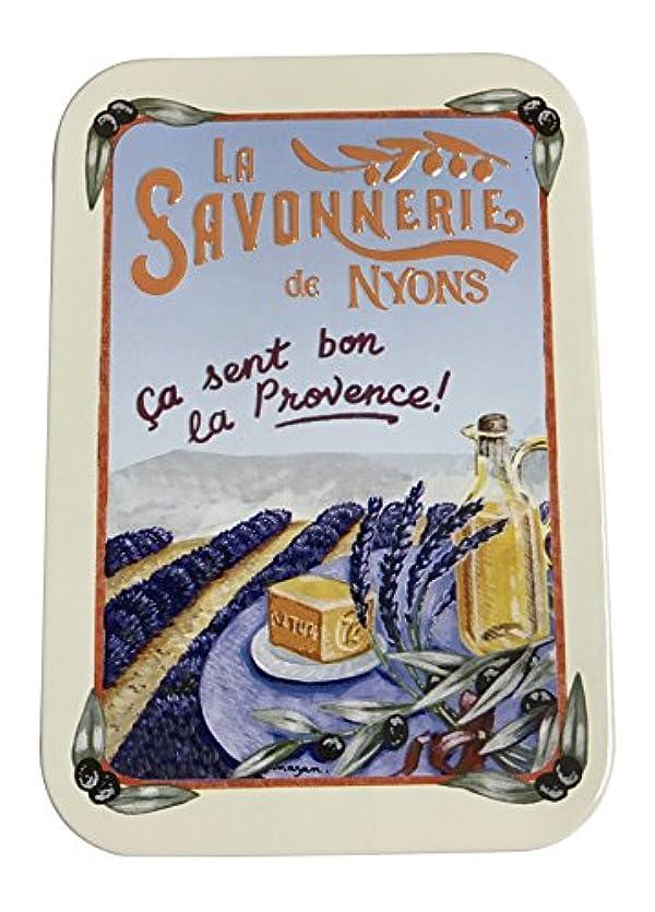 時間月曜スリップラ?サボネリー アンティーク缶入り石鹸 タイプ200 ラベンダー畑(ラベンダー)