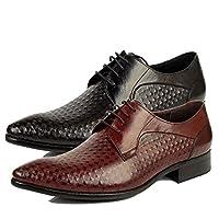 本革 ビジネスシューズ メンズ レースアップ 紐靴 719325 ワイン 24.0