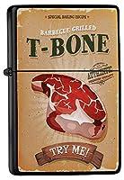 Pocket Windproof ライター Lighter Brushed Oil Refillable T-bone steak