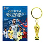 FIFA–2018ワールドカップ公式プログラム& Trophyキーチェーンコンボパック