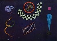 カンディンスキー・「格子模様のリボン」 プリキャンバス複製画・ 【ポスター仕上げ】(8号相当サイズ)