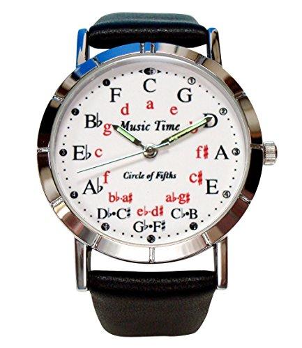 ミュージックタイム サークル オブ フィフス  ウォッチ シルバー 五度圏(ごどけん)腕時計