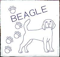 刺し子 犬 ビーグル