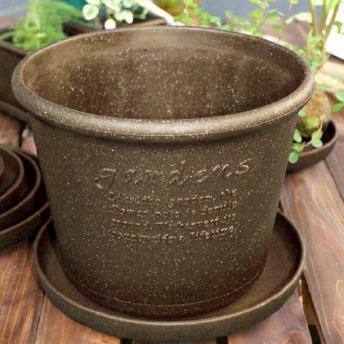 gardens(ガーデンズ) 鉢 エコポット浅型 8号 素焼き