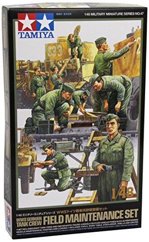 1/48 ミリタリーミニチュアシリーズ No.47 WWII ドイツ戦車兵 野戦整備セット 32547