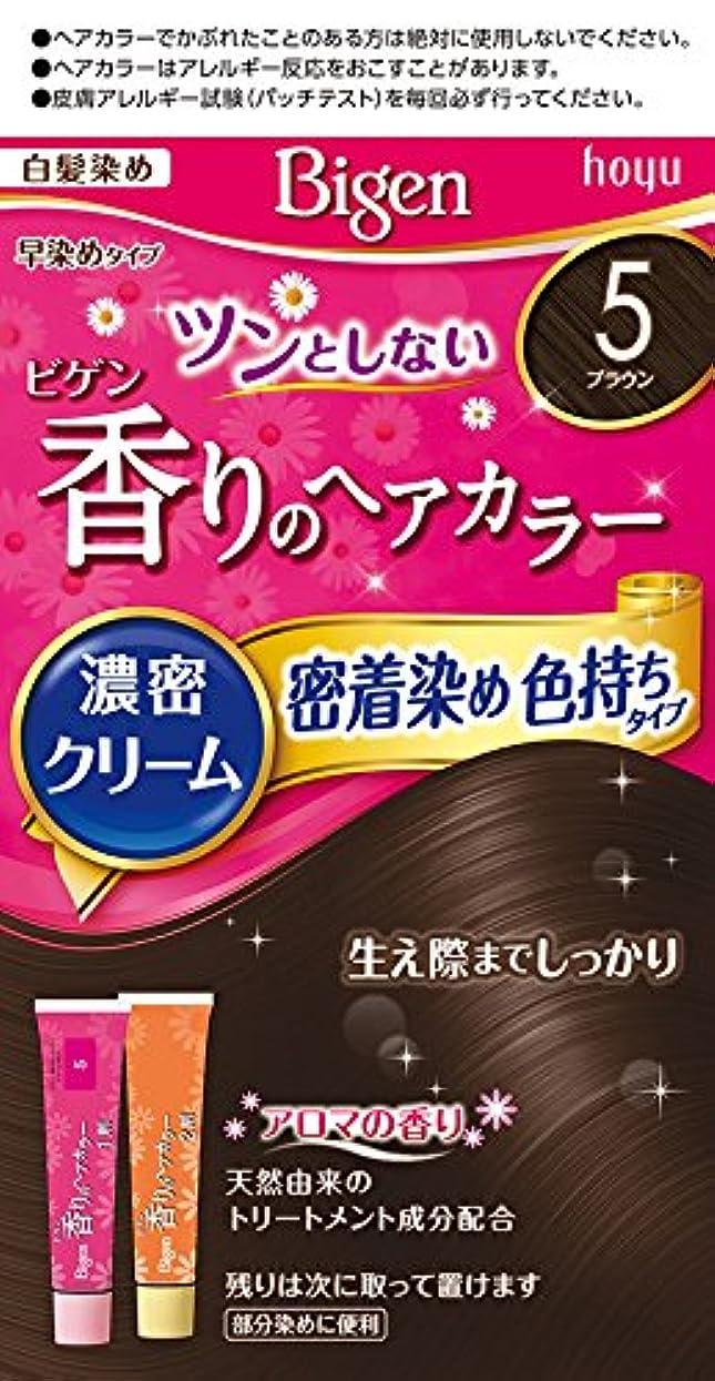 合理化分析的な偶然ホーユー ビゲン香りのヘアカラークリーム5 (ブラウン) 1剤40g+2剤40g [医薬部外品]