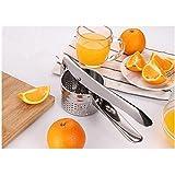 X-Jang レモンしぼり器, 果汁 絞り器 , ハンドジューサー 手動式 フルーツしぼり ( オレンジ、ブドウ, など ) , ステンレス製