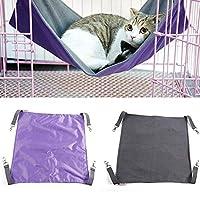 Doolland 猫のハンモック キャットハンモック ベット ペット用品 防水オックスフォード布 毛布 冬夏両用 ベッド ケージまたは椅子との併用