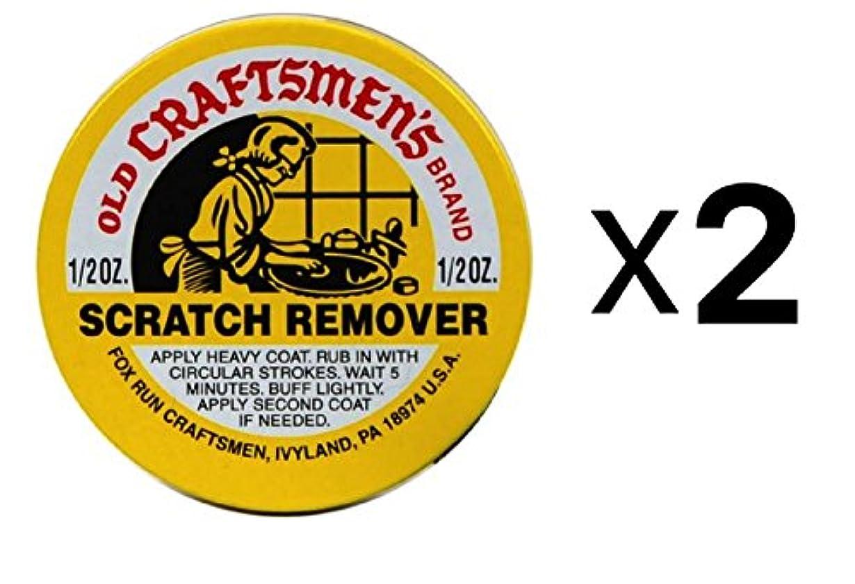 祖先ビンフラフープFox Run スクラッチリムーバー Old Craftsmen's 1/2オンス 木や革のキズを磨きます (2個入りパック)
