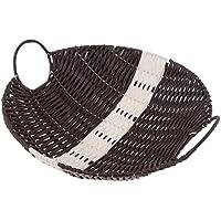 Fenteer 織物 貯蔵バスケット 雑貨 フルーツ フード コンテナ オーガナイザー ボックス 実用的 全2種 - A