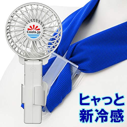 ヒャっと冷たい扇風機 冷却タオルファン (水の気化熱で6℃マイナス, 服の中...