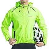 Santic メンズ 防風 UV保護 サイクリングジャケット 長袖 ウィンドコート