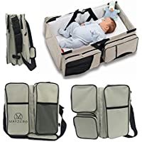 Travel Portable Bassinet 3 in 1 Diaper Bag Travel Baby Bed and Portable Changing Station, Multipurpose Baby Diaper...