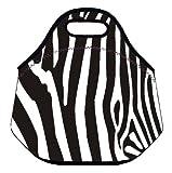 OneMtoss ランチバッグ クッションポーチ 保温 保冷 弁当バッグ 化粧品バッグ 小物収納 28×16×30cm ヒョウ柄やシマウマの柄 シリーズ