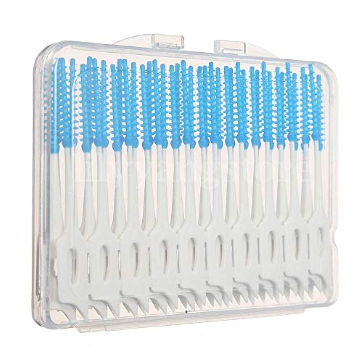 豚マリナー確立Maxcrestas - 便利な40個歯間フロスブラシ歯科歯オーラルケアクリーンクリーニングツール