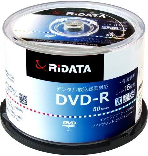 RiDATA 録画用 DVD-R D-RCP16X.PW50RD D  50枚入