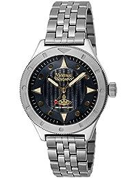 [ヴィヴィアン・ウエストウッド]Vivienne Westwood 腕時計 ブラック文字盤 VV160BKSL メンズ 【並行輸入品】