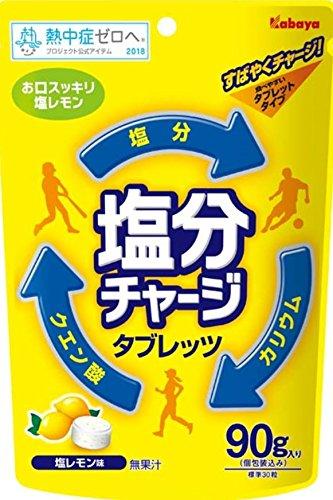 カバヤ食品 塩分チャージタブレッツ 塩レモン 90g×6袋