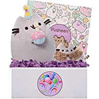 Blue Basil Gifts Pusheen Party Time Gift Box, 10 inches [並行輸入品]