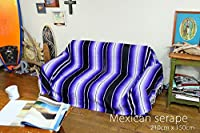 RUG&PIECE Mexican Serape made in mexcico ネイティブ メキシカン サラペ メキシコ製 210cm×150cm (rug-6488)