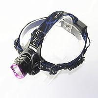 Nanle T6 LEDヘッドランプ5000LMクリーXM-L2 XML 3モードデザインヘッドライト屋外スポーツヘッドランプ防水ランナーキャンパーハイカーハンター(含むと充電器)