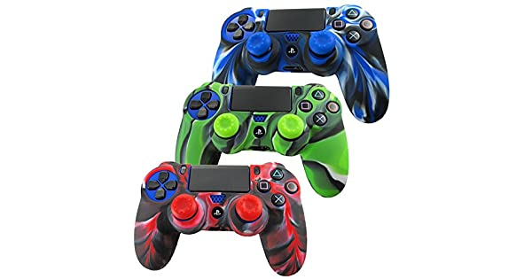 Camouflage Case Skin Grip Cover For Playstation 4 Ps4 Controller Blue Gw We Take Customers As Our Gods Video Game Accessories