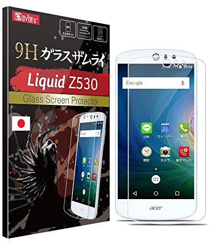 【 acer Liquid Z530 ガラスフィルム 】 約3倍の強度 ( 日本製 ) 保護フィルム OVER's ガラスザムライ® ( 365日保証付き )