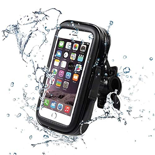 スマホホルダー 自転車 防水 Valued 防塵 バイク スマホホルダー 雨でも大丈夫 携帯ホルダー GPSナビ マウントホルダー 転落防止 360°回転 iphone X/iphone8/7 SamSung Galaxy S7 Edge HuaWei P20/10Plusなどに対応 XLサイズ
