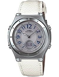 「母の日ギフトラッピング済」[カシオ]CASIO 腕時計 WAVE CEPTOR 電波ソーラー LWA-M141L-7A5JF ホワイト レディース&クロス