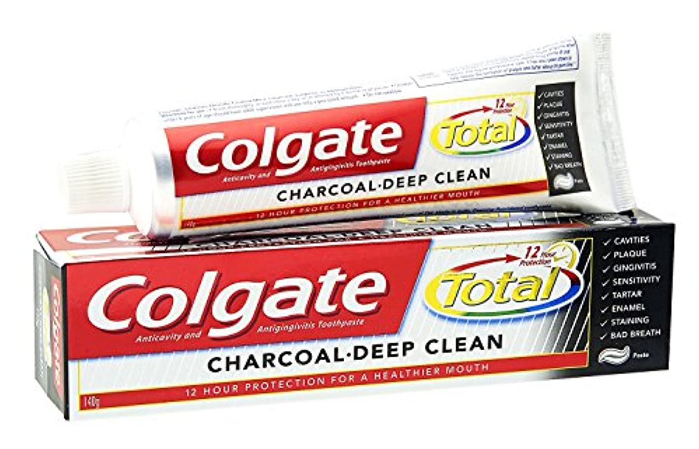 収束おなじみの愛人2 X Colgate Total Charcoal Toothpaste - 120 g x 2 - Expiry 24months From Mfd. date