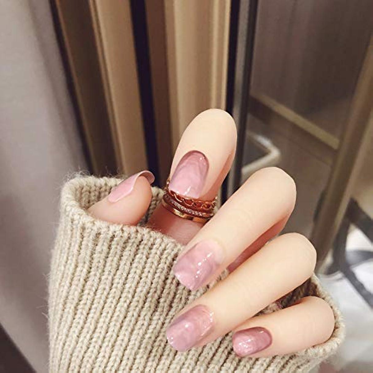 キャロライン活発代表して新作 24枚 ぼかしネイルチップ 大理石の模様 披露宴つけ爪 直接貼るネイルチップ ショートタイプ むら染デザイン