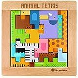 Ms.0 アニマル パズル12種類 積み木 動物 モンテッソーリ 知育 学習 木のおもちゃ 型あわせ