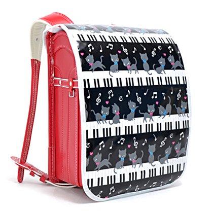 ワクワク通学 ランドセルカバー ピアノの上で踊る黒猫ワルツ(...
