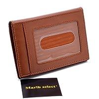 (Marib select) 牛革 二つ折り カードケース 定期入れ IDケース パスケース 免許証ケース 紳士 本革 オールレザー メンズ #b594 (キャメル)