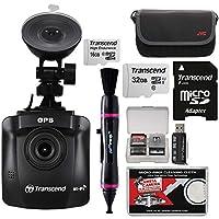 Transcend DrivePro 2301080p HD Wi-Fi GPS 吸着カップ付き車ダッシュボードビデオカメラ& 16GBカード+32GBカード+ケース+Lenspen+リーダー+キット