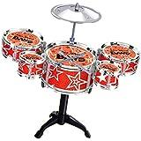 T TOOYFUL ジャズドラム パーカッション 楽器セット 音楽玩具 子供 遊び玩具 5ドラム 音楽才能開発 ギフト