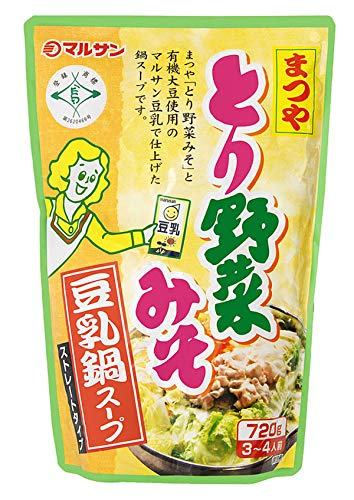 マルサンアイ まつやとり野菜みそ 豆乳鍋スープ 720g×2...