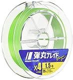 メジャークラフト PEライン 弾丸ブレイド 4本編み 単色 DB4-150/1.2GR グリーン 150M/1.2号