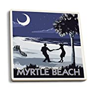 Myrtle Beach , South Carolina–Palmetto Moonビーチダンサー 4 Coaster Set LANT-43670-CT
