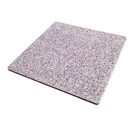 ペットさん大喜び♪ 魔法の天然石ひんやりマット(ベッド) 涼しげ・かわいいピンクバージョン  40×40×1.3センチ ほど良い涼しさにペットうっとり♪ 暑い夏に洗えるクールなマット 安心の日本製。【耐久性抜群の御影石A級品です】大自然の原石から1枚ずつ丁寧に加工してます。G400-P01