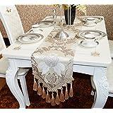 EGROON 上品 豪華 古典 テーブルランナー 優雅 テーブルクロス 食卓カバー テーブルカバー テーブルマット 簡約 ベージュ