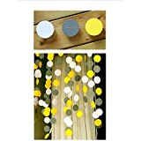 Raylinedo 3X Yellow Grey And White Paper Garland For Wedding Birthday Anniversary Party Christmas Girls Room Decoration [並行輸入品]