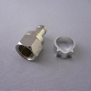 フジパーツ アンテナ接栓 5C用【10個入】 5C用 F型接栓 アルミリング/5C-10P