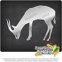 ガゼルアンテロープ Gazelle antelope 14cm x 13cm 15色 - ネオン+クロム! ステッカービニールオートバイ