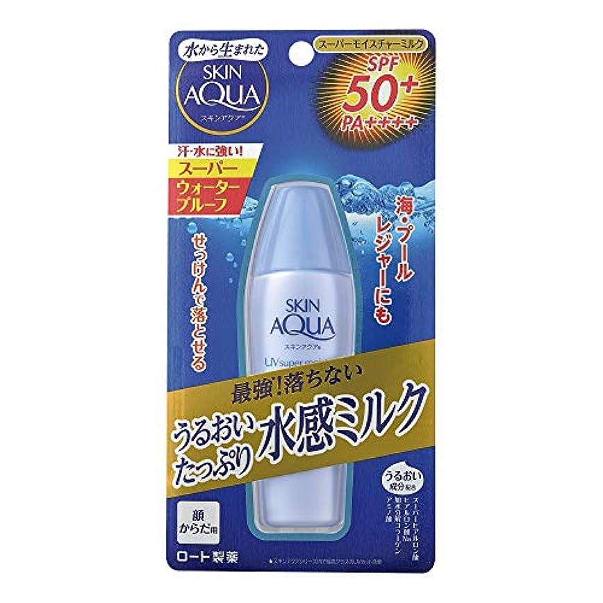 湾長老ペダルスキンアクア (SKIN AQUA) 日焼け止め スーパーモイスチャーミルク 潤い成分4種配合 水感ミルク (SPF50 PA++++) 40mL ※スーパーウォータープルーフ