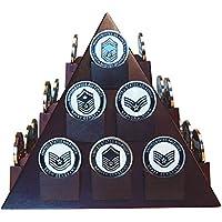 decomil-ピラミッド型Poker / Casino Chips表示スタンドwith回転可能ベース