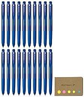UNI - BALL SIGNO rt1格納式Gelインクペン、ウルトラMicro Point 0.28MM ,ブルーインク、20-pack、付箋値設定