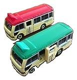 トミカ TOMICA ミニバス ミニ バス 2台 セット 赤 緑 ミニカー 香港 限定