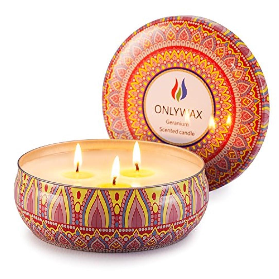ガチョウ石鹸祖母Scented Candles Soy Wax 3 Wick Tin 70 Hour Burn,Essential Oils-for Stress Relief and Relaxation,Outdoor and Indoor